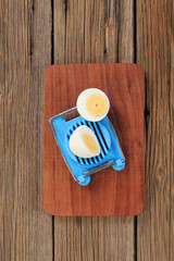 Boiled egg and a cutter