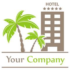 Firmenzeichen - Hotel und Palmen