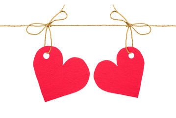 """Bows with red tags """"heart"""""""