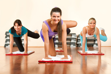 Young attractive women  in the fitness club