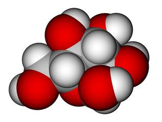 Glucose (α-D-glucopyranose) molecular model