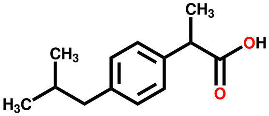 Ibuprofen structural formula