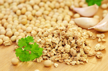 Sojabohnen, Granulat