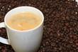 eine Tasse mit Kaffee