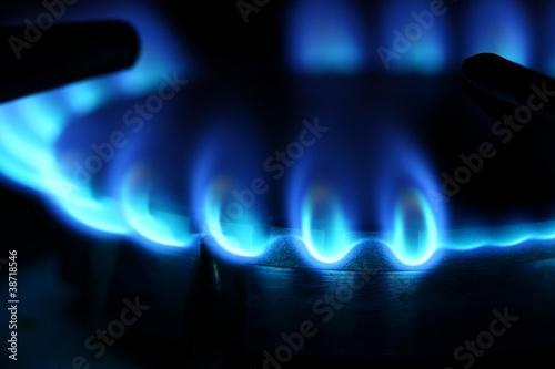 Leinwandbild Motiv gasflamme I