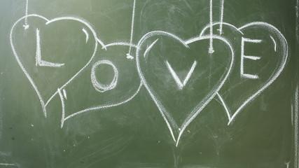 Stop Motion Scribbling on a Chalkboard.