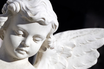 angel image  isolated on black