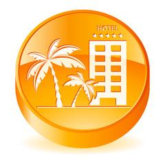 Hotel und Palmen