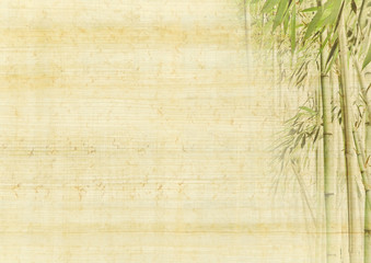 Asia background with bamboo