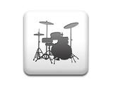 Boton cuadrado blanco bateria musica