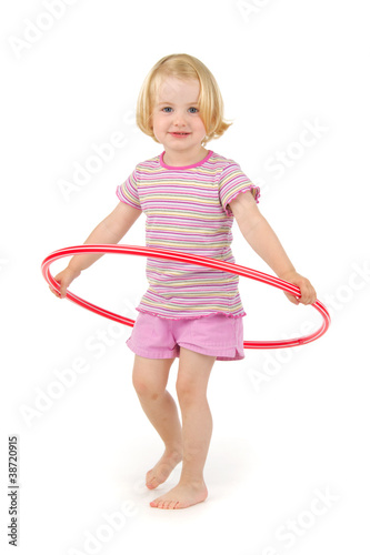 Child with hula hoop