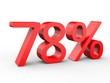 3d Schrift 78% rot