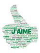 """Nuage de Tags """"J'AIME"""" (recommander voter partager like bouton)"""