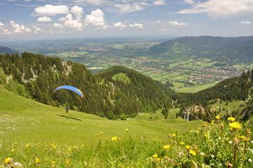 Gleitschirm fliegen in den Bayerischen Alpen