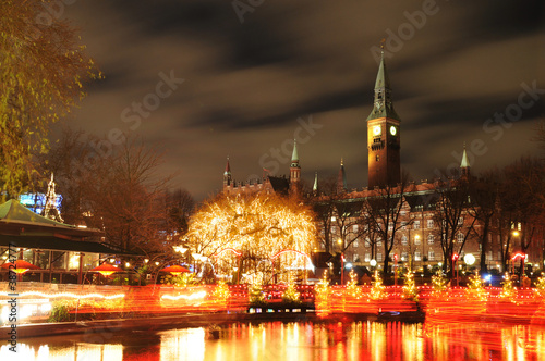 Poster Copenhagen by night