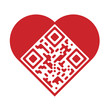 "Artistic ""I Love You"" QR Code"