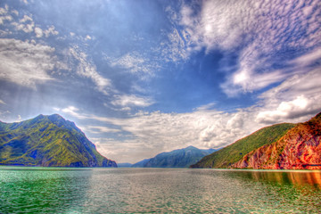 View of Lake Iseo in Hdr