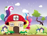 casa de fantasia en vector