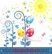 Greeting easter card