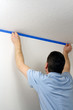 Masking a Wall with Blue Tape