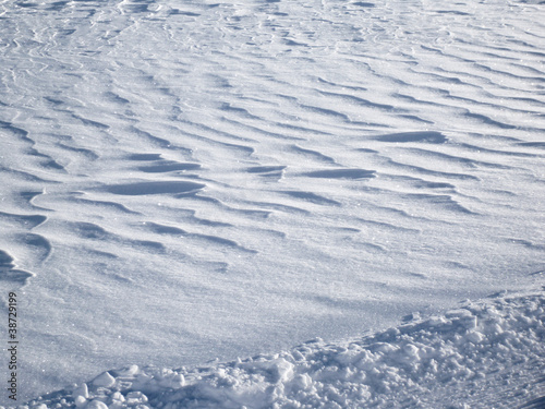 Side lit snow texture scene