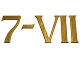 3d golden normal numbers and with Roman numeral poster