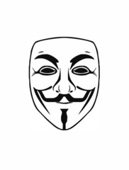 Anonymous Guy Fawkes Maske Vector - symbol acta