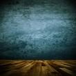 Wohndesign - Raum alt blau