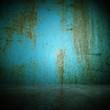 Wohndesign - Raum alt blau mit Rost
