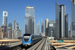Metro train downtown in Dubai, United Arab Emirates