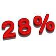 3d font 28%