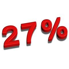 3d font 27%