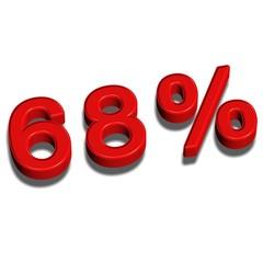 3d font 68%