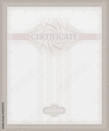 Certificate Guilloche template security spirograph