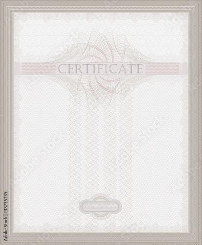 Certificate Guilloche template security spirograph