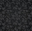 Abstract seamless pattern, black