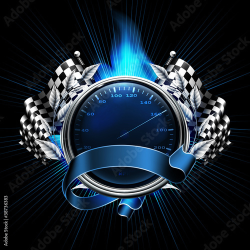 Fototapeta Blue Emblem Races