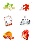 Medicine, set of icons
