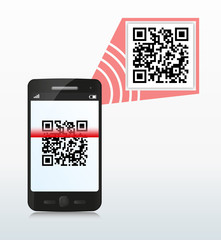 qr code scan with smartphone
