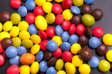Colorful random chocolate sweets