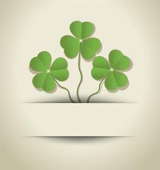St. Patrick's Day Shamrock card paper