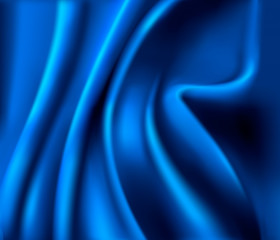 Elegant blue satin texture. Vector illustration.
