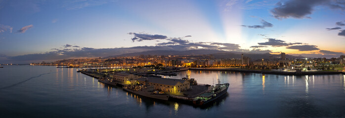 Las Palmas de Gran Canaria at sunset, Grand Canary Spain