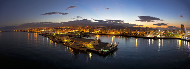 Las Palmas de Gran Canaria at night, Grand Canary Spain