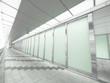 Long walkway in city