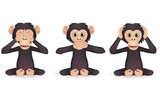 Hear no evil, speak no evil, see no evil (Three wise monkey) - 38741555