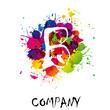 Splash Logo letter B # Vector