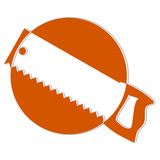 Logo for carpenters and joiners - handsaw - Illustration poster