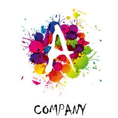 Splash Logo letter A # Vector