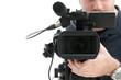 Leinwandbild Motiv Video camera operator